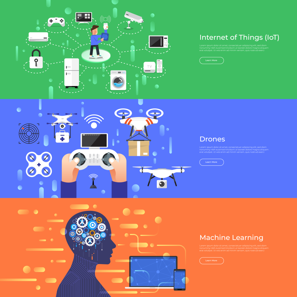 Drone with Machine Learning Infographic