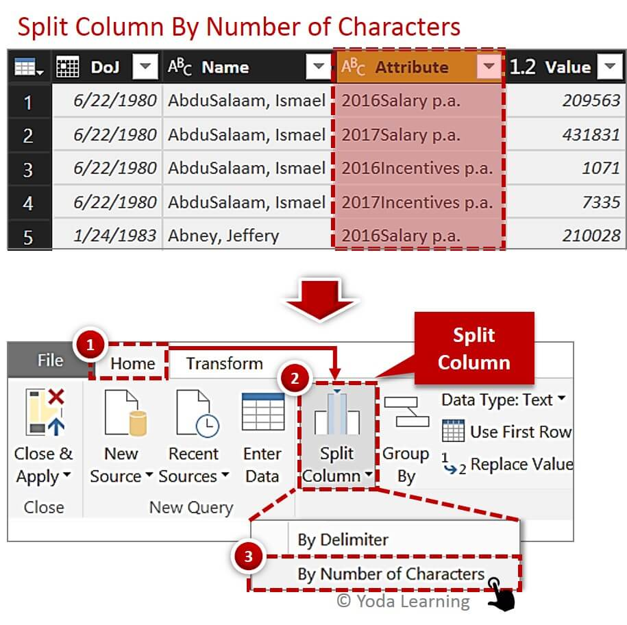 Split Multi Column Data